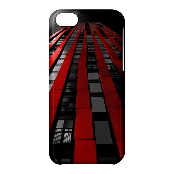 Red Building City Apple iPhone 5C Hardshell Case