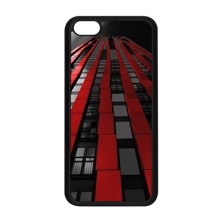 Red Building City Apple iPhone 5C Seamless Case (Black)