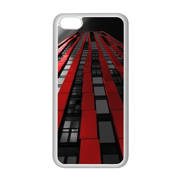 Red Building City Apple iPhone 5C Seamless Case (White)