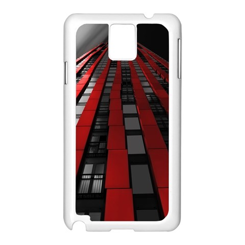 Red Building City Samsung Galaxy Note 3 N9005 Case (White)