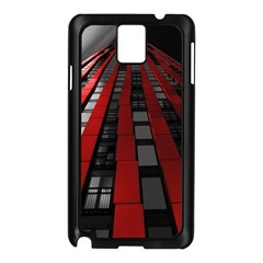 Red Building City Samsung Galaxy Note 3 N9005 Case (Black)
