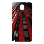 Red Building City Samsung Galaxy Note 3 N9005 Hardshell Back Case Front