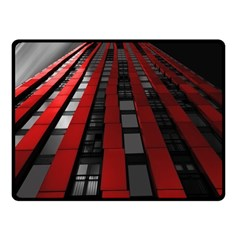 Red Building City Double Sided Fleece Blanket (Small)