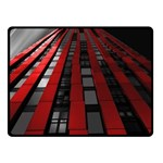 Red Building City Double Sided Fleece Blanket (Small)  50 x40 Blanket Back