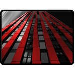 Red Building City Double Sided Fleece Blanket (Large)  80 x60 Blanket Back