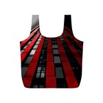 Red Building City Full Print Recycle Bags (S)  Front