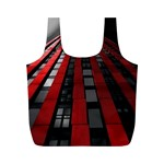 Red Building City Full Print Recycle Bags (M)  Back