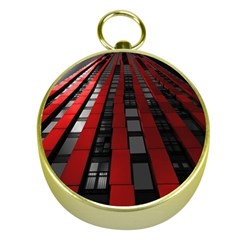 Red Building City Gold Compasses