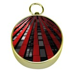 Red Building City Gold Compasses Front
