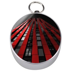 Red Building City Silver Compasses