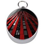 Red Building City Silver Compasses Front