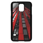 Red Building City Samsung Galaxy S5 Case (Black) Front