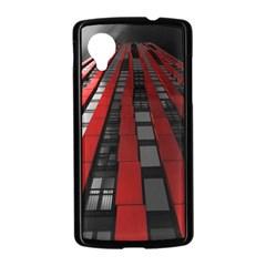 Red Building City Nexus 5 Case (Black)