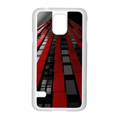 Red Building City Samsung Galaxy S5 Case (White)