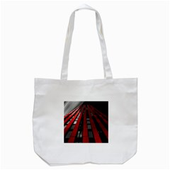 Red Building City Tote Bag (White)