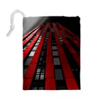 Red Building City Drawstring Pouches (Large)  Back