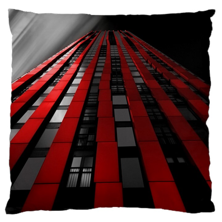 Red Building City Large Flano Cushion Case (One Side)