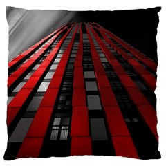 Red Building City Large Flano Cushion Case (Two Sides)