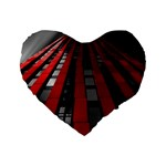 Red Building City Standard 16  Premium Flano Heart Shape Cushions Front