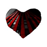 Red Building City Standard 16  Premium Flano Heart Shape Cushions Back