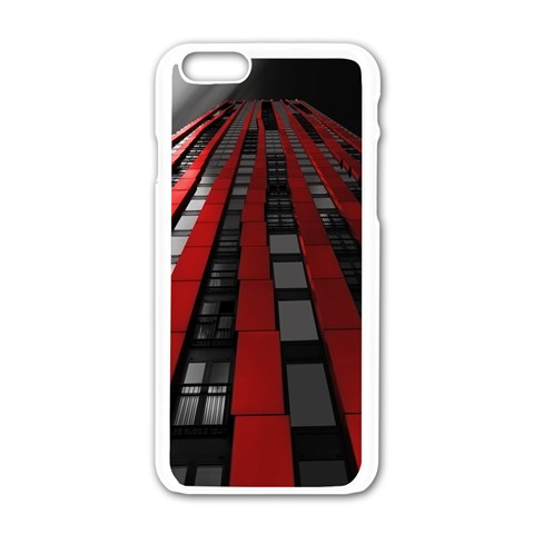 Red Building City Apple iPhone 6/6S White Enamel Case
