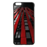 Red Building City Apple iPhone 6 Plus/6S Plus Black Enamel Case Front