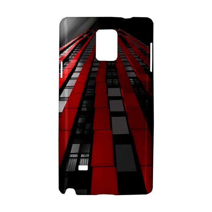Red Building City Samsung Galaxy Note 4 Hardshell Case