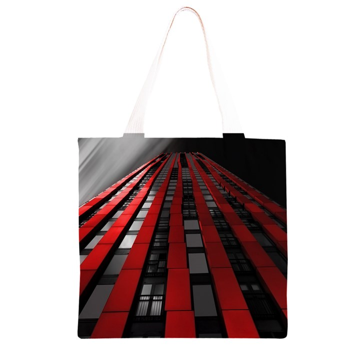 Red Building City Grocery Light Tote Bag