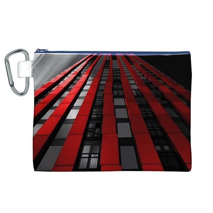 Red Building City Canvas Cosmetic Bag (XL)