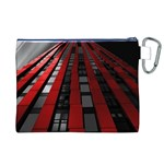 Red Building City Canvas Cosmetic Bag (XL) Back