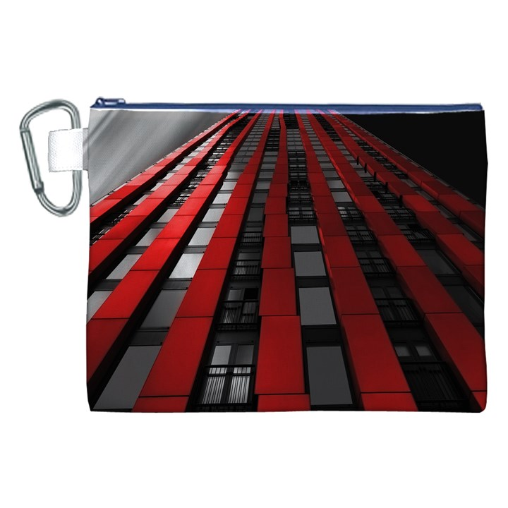Red Building City Canvas Cosmetic Bag (XXL)