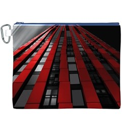 Red Building City Canvas Cosmetic Bag (XXXL)