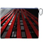 Red Building City Canvas Cosmetic Bag (XXXL) Back