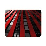 Red Building City Double Sided Flano Blanket (Mini)  35 x27 Blanket Back