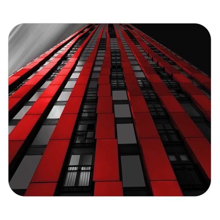 Red Building City Double Sided Flano Blanket (Small)