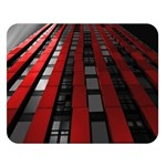 Red Building City Double Sided Flano Blanket (Large)  80 x60 Blanket Front