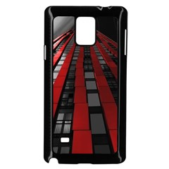 Red Building City Samsung Galaxy Note 4 Case (Black)