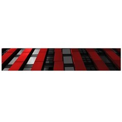 Red Building City Flano Scarf (Large)