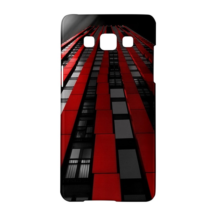 Red Building City Samsung Galaxy A5 Hardshell Case