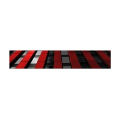 Red Building City Flano Scarf (Mini)