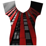 Red Building City Women s V-Neck Cap Sleeve Top Front