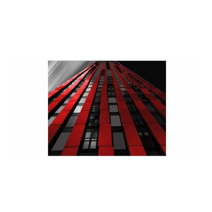 Red Building City Satin Wrap