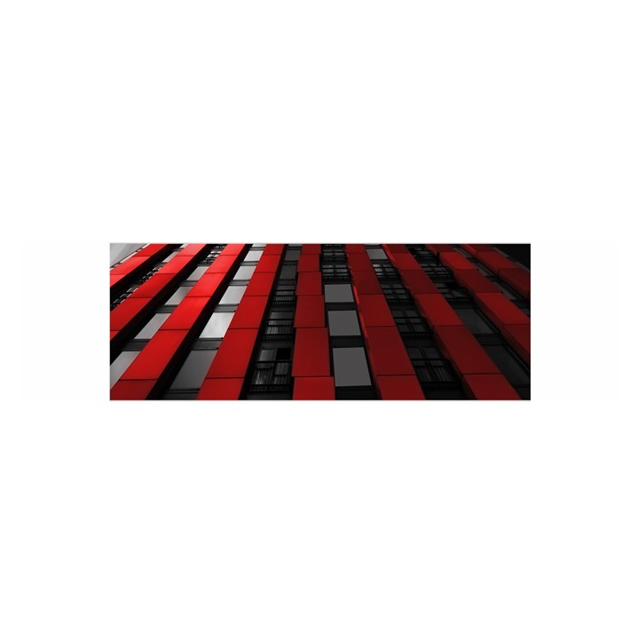 Red Building City Satin Scarf (Oblong)