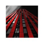 Red Building City Small Satin Scarf (Square) Front