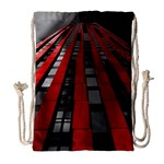 Red Building City Drawstring Bag (Large) Front