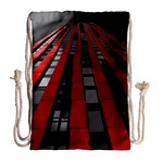 Red Building City Drawstring Bag (Large) Back