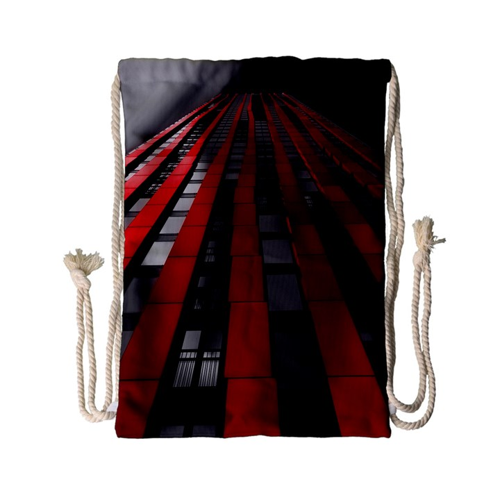 Red Building City Drawstring Bag (Small)