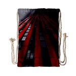 Red Building City Drawstring Bag (Small) Back