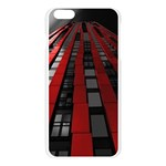 Red Building City Apple Seamless iPhone 6 Plus/6S Plus Case (Transparent) Front