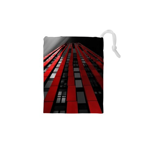 Red Building City Drawstring Pouches (XS)